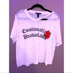 🌹 f21 cropped shirt 🌹